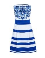 Vestido azul rayas
