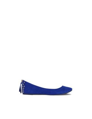 Zapato azul brillo
